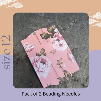 Pack of 2 Beadalon beading needles size 12