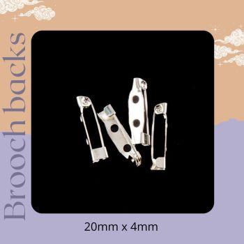 Pack of 4 brooch backs