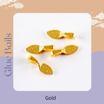 Pack of 4 Glue bails - Gold colour