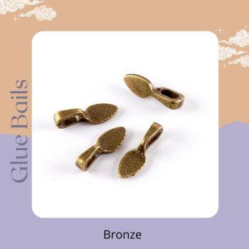 Pack of 4 Glue bails - bronze colour