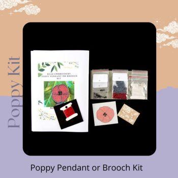Poppy Pendant or Brooch Kit