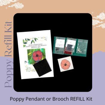 Poppy Pendant or Brooch REFILL Kit