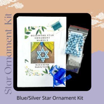 Star Ornament Kit - Blue/Silver