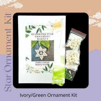 Star Ornament Kit - Ivory/Green