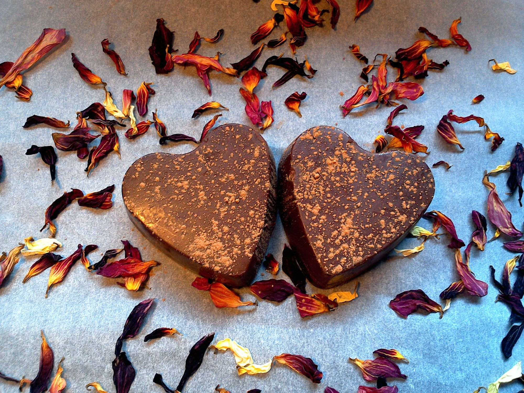 Valentine's Truffle Hearts with an Almond Butter Centre