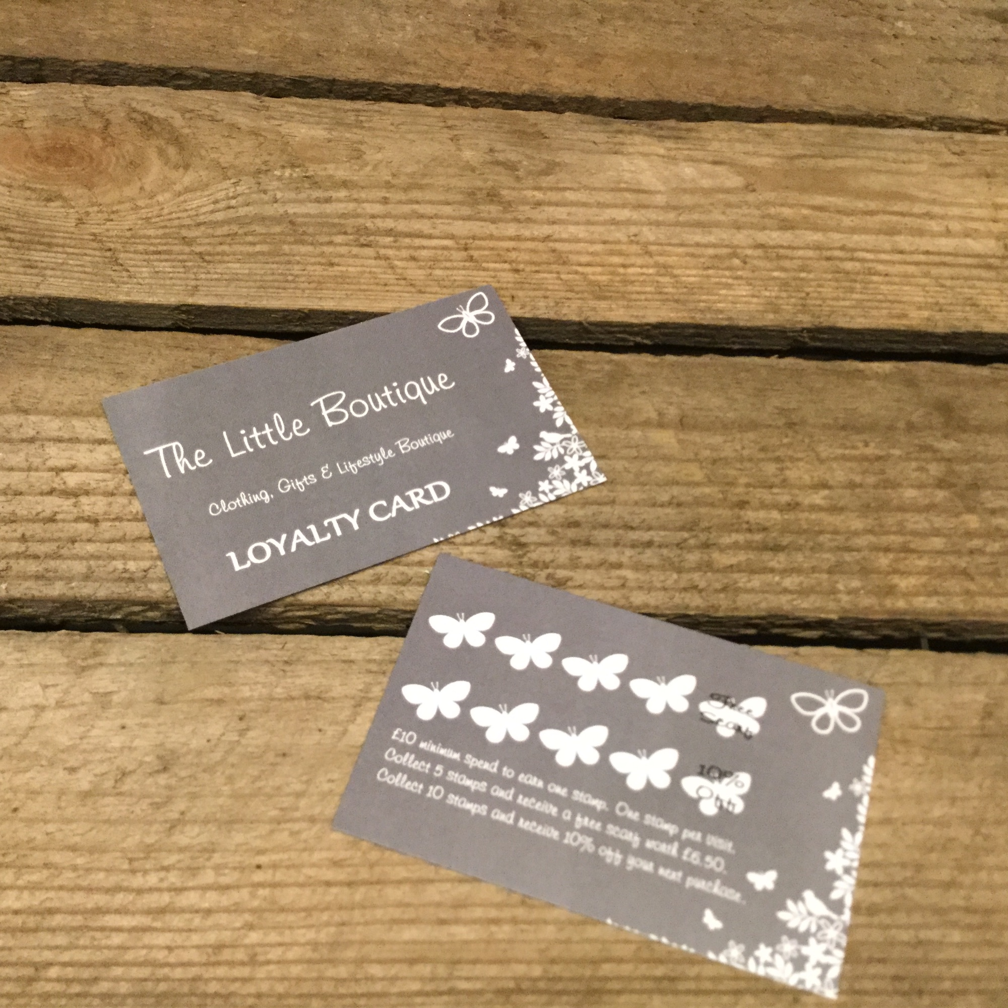 Loyalty card rewards from The Little Boutique