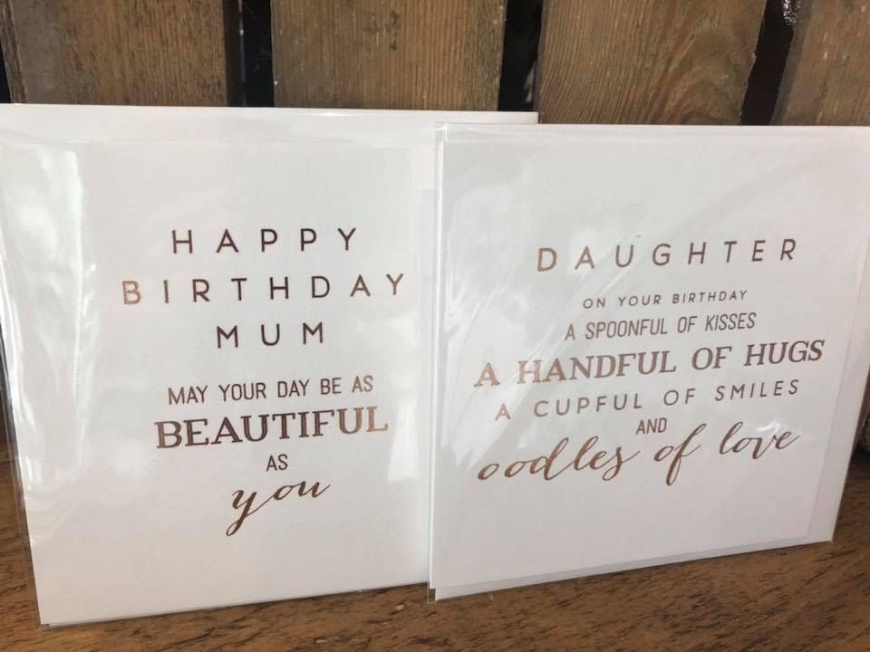 Mum and daughter cards