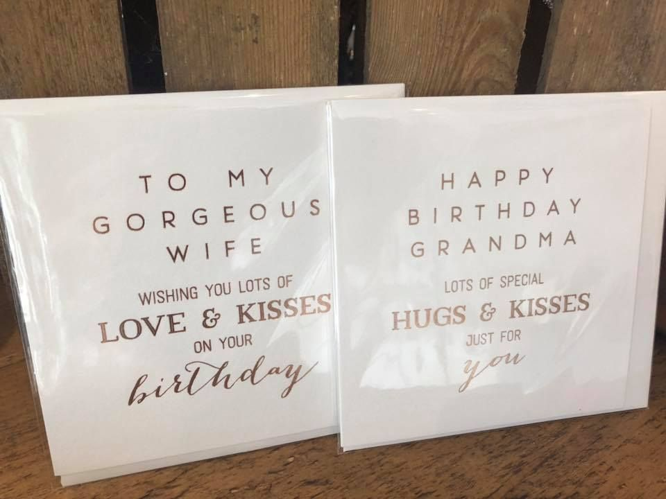 birthday cards for wife and grandma