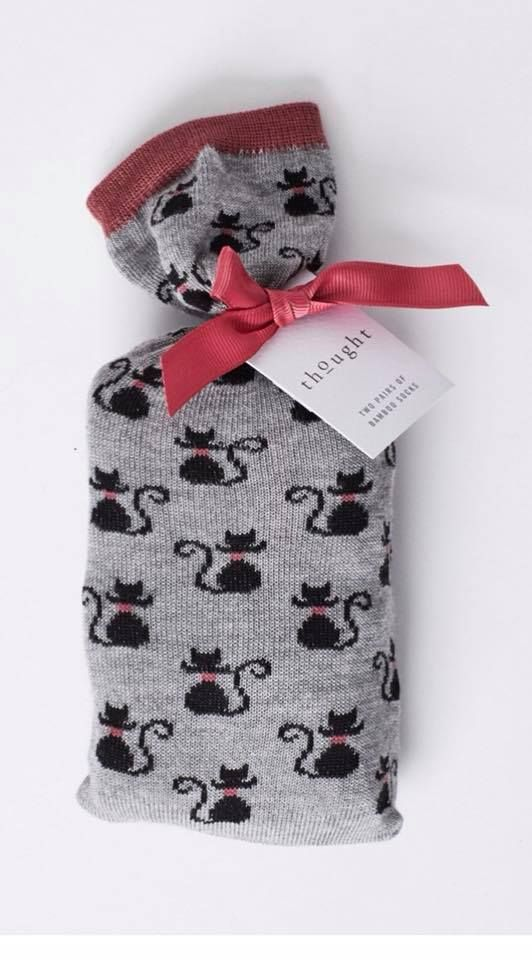 cat socks by Thought