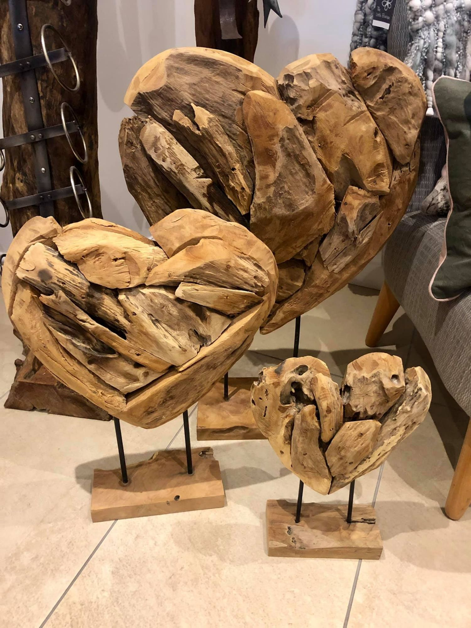 Tree Root Hearts on Stands