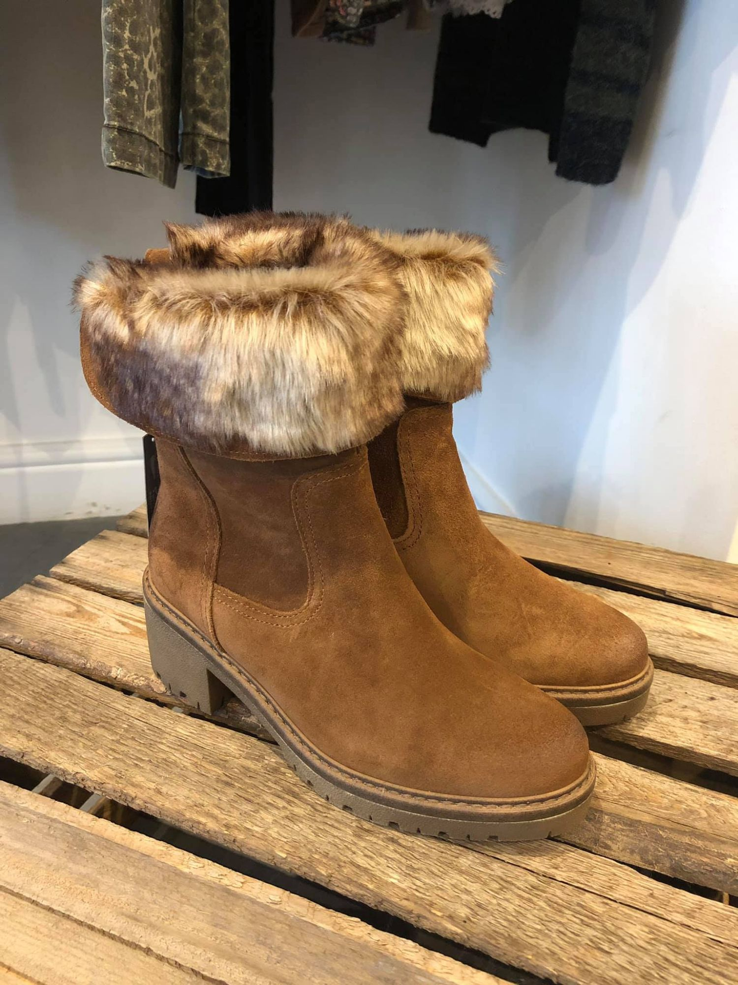 Fur Topped Boot