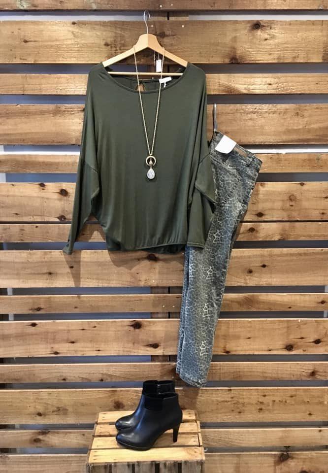 Leopard print jeans outfit