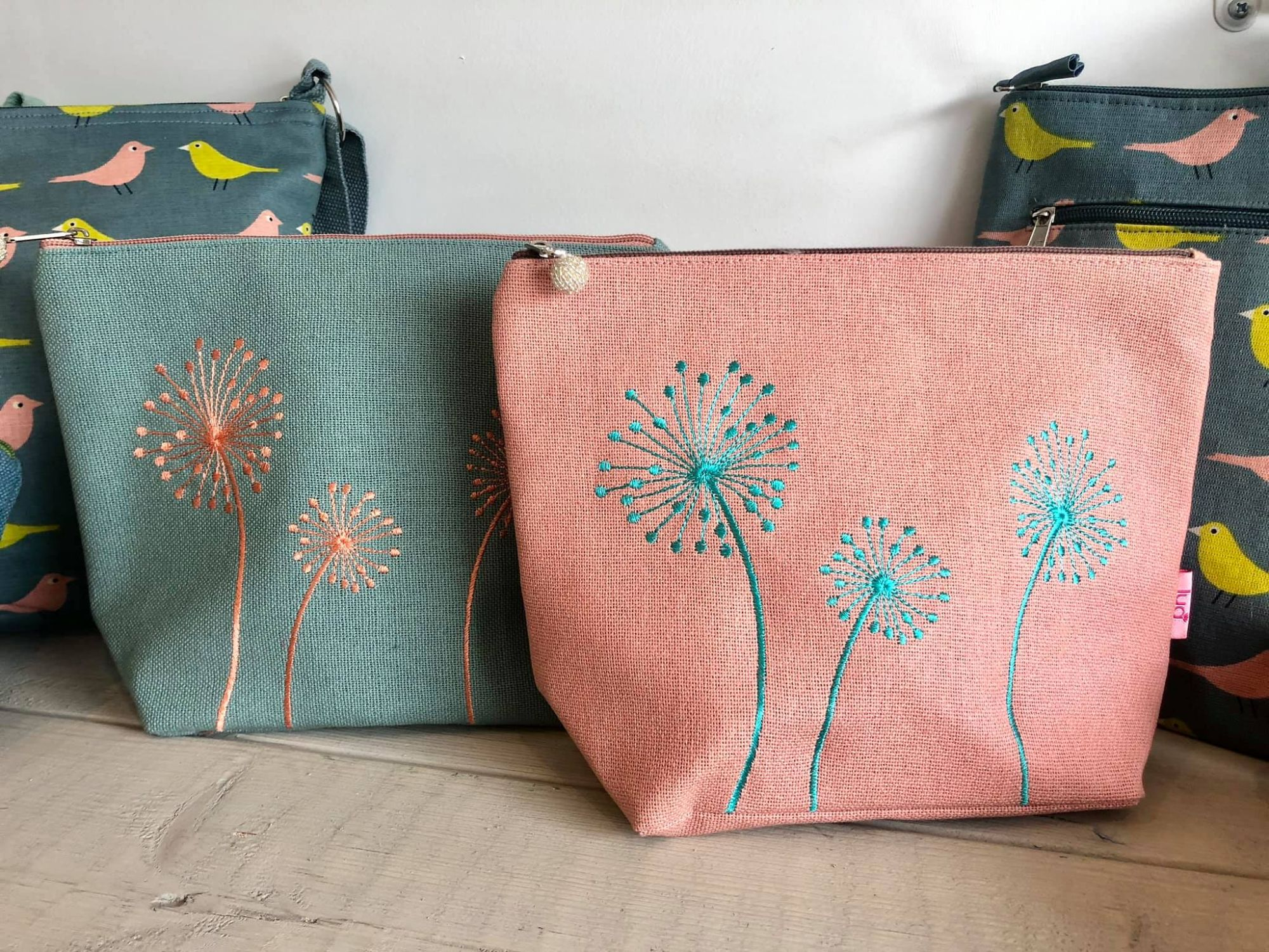Floral Cosmetic Bags