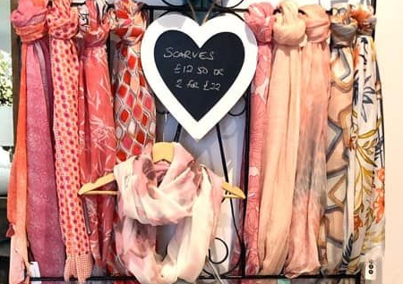 scarves at the little boutique
