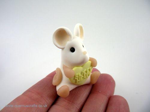 Little Love Heart Mouse - Lemon QL7
