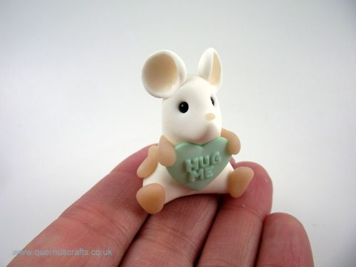 Little Love Heart Mouse - Mint Green QL7