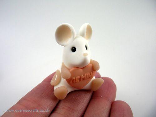 Little Love Heart Mouse - Peach QL7