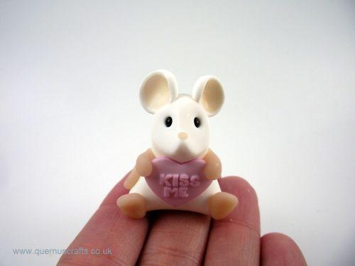 Little Love Heart Mouse - Pink QL7