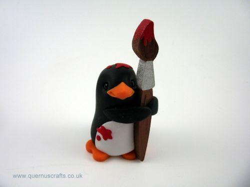 Little Penguin with Paintbrush QL7