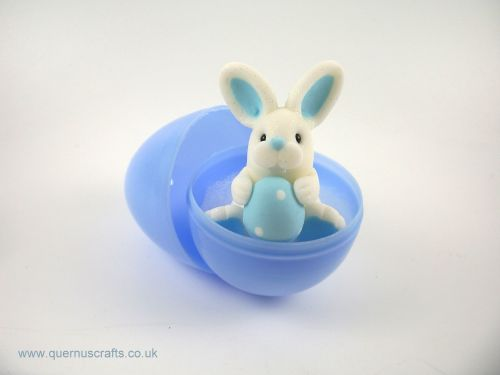 Little Blue Easter Egg Bunny in Egg (MQEL)
