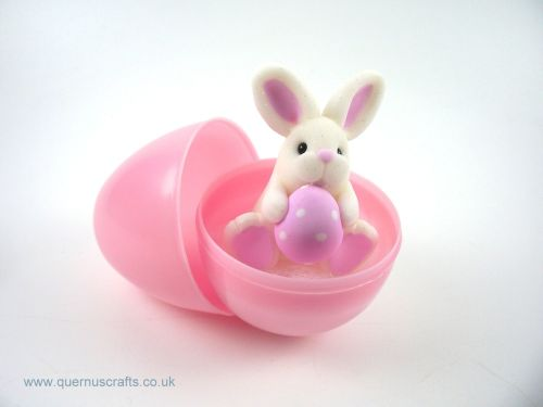 Little Pink Easter Egg Bunny in Egg (MQEL)