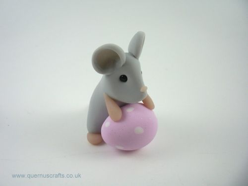 Little Grey Easter Egg Mouse (MQEL)