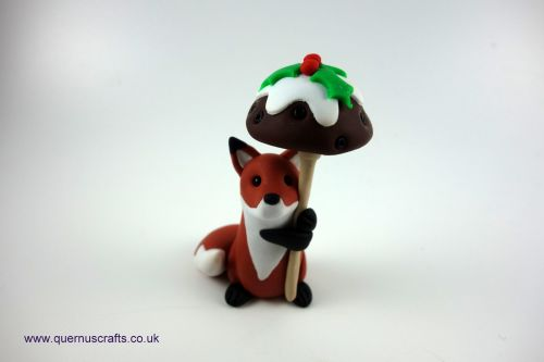 Little Christmas Pudding Toadstool Fox QCL