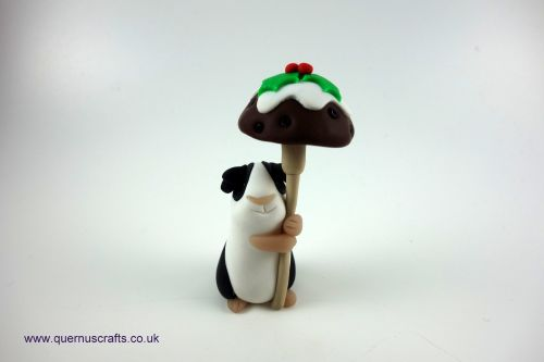 Little Christmas Pudding Toadstool Guinea Pig QCL