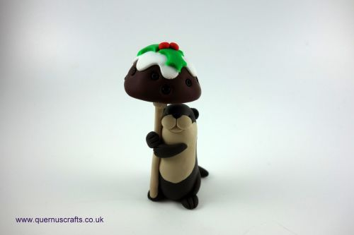 Little Christmas Pudding Toadstool Otter QCL