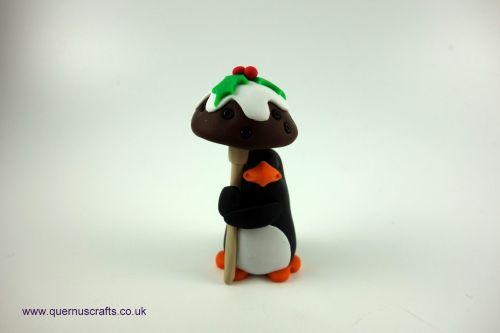 Little Christmas Pudding Toadstool Penguin QCL
