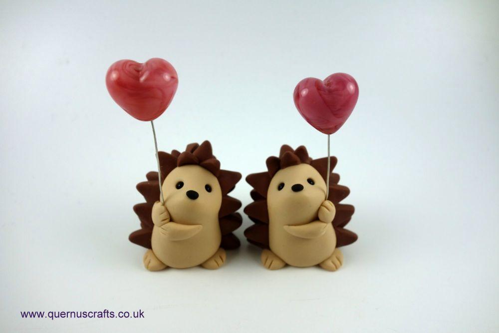 Little Glass Heart Balloon Hedgehog