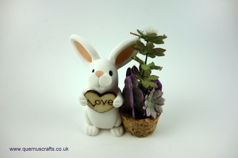Little Love Bunny with Plant