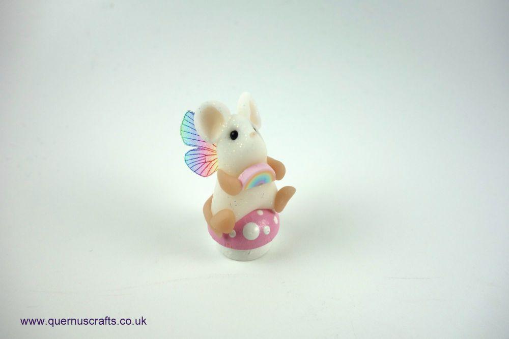 Teeny Fairy Rainbow Toadstool Mouse (Pink)