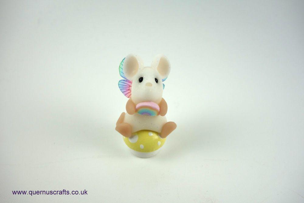 Teeny Fairy Rainbow Toadstool Mouse (Lemon)