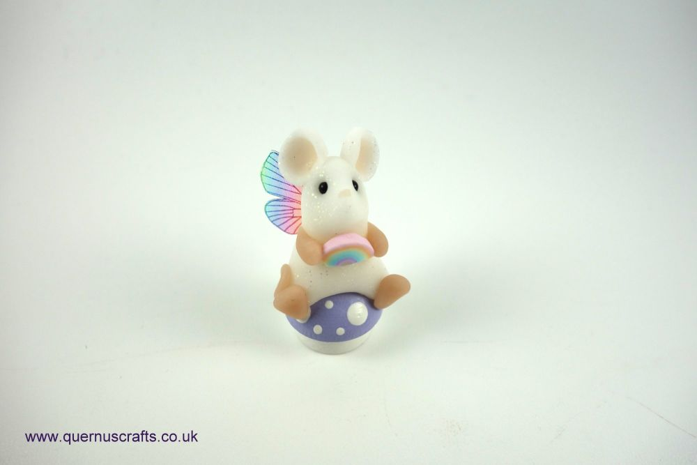 Teeny Fairy Rainbow Toadstool Mouse (Lilac)