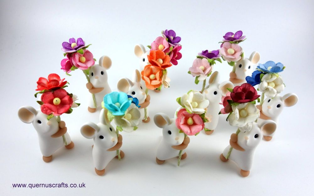 Little Blossom Mice white 100719