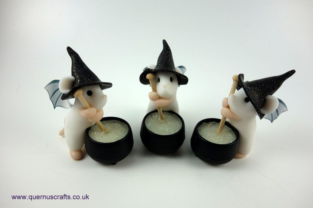 Little Fairy Witch Cauldron Mouse (3 available)