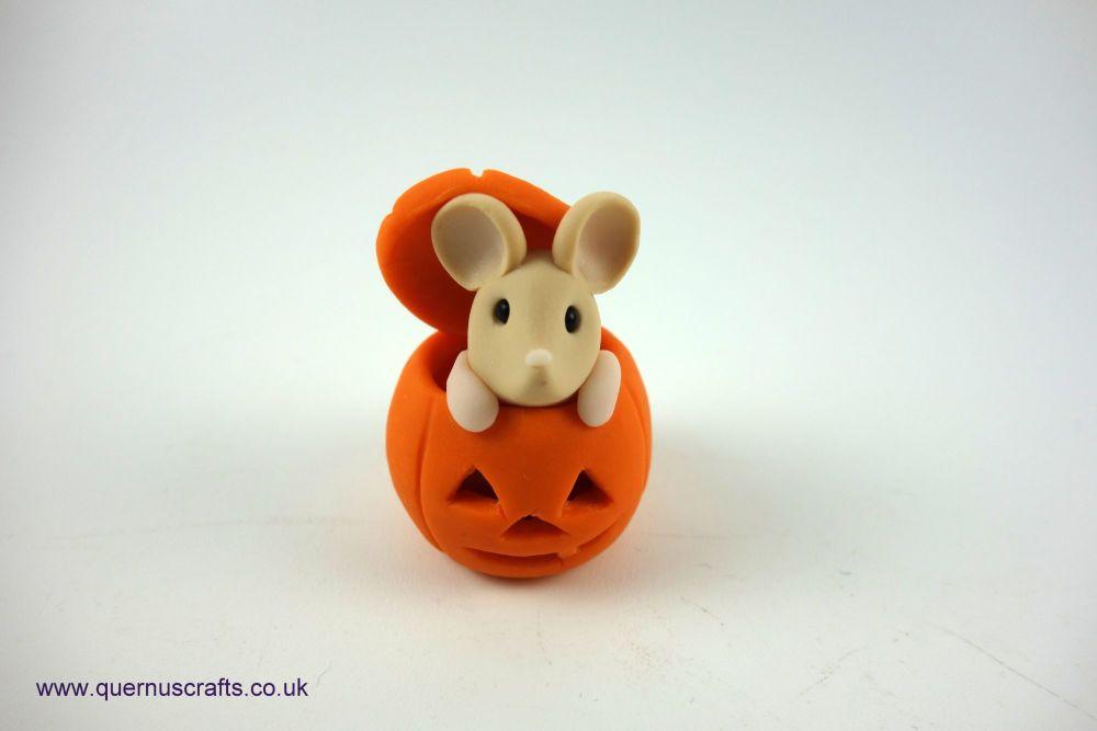 Little Tan Mouse in Pumpkin