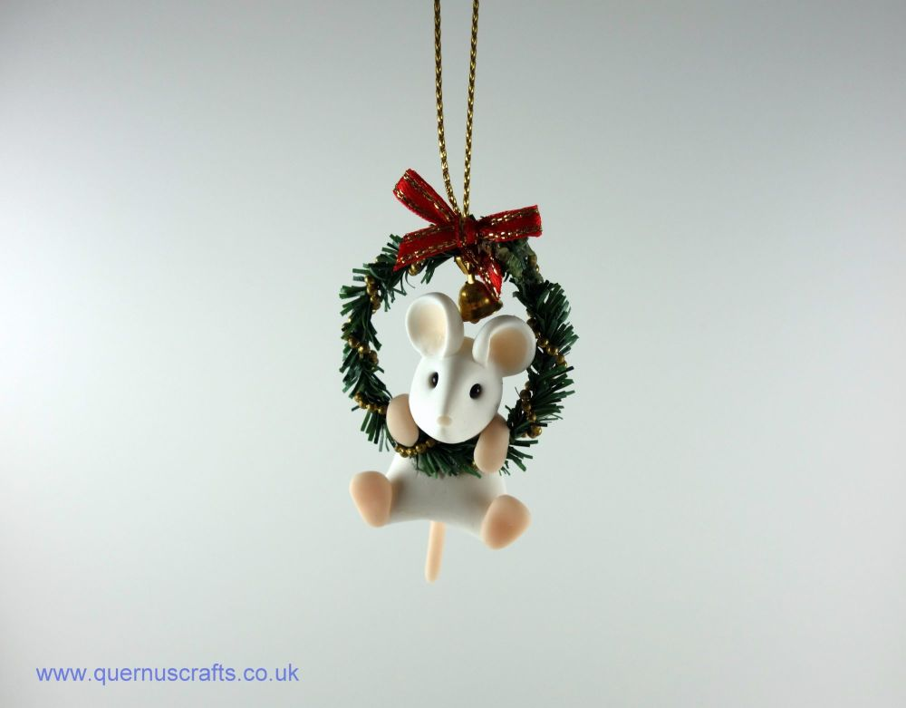 Little Mouse in Holly Garland (3 available)