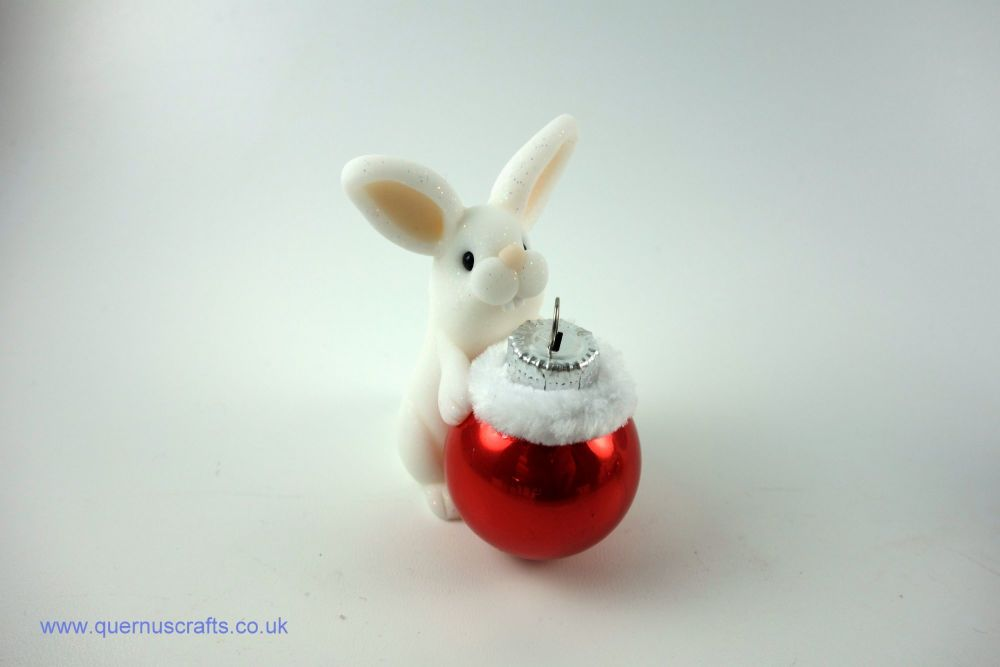 Little Christmas Bauble Bunny (Red)