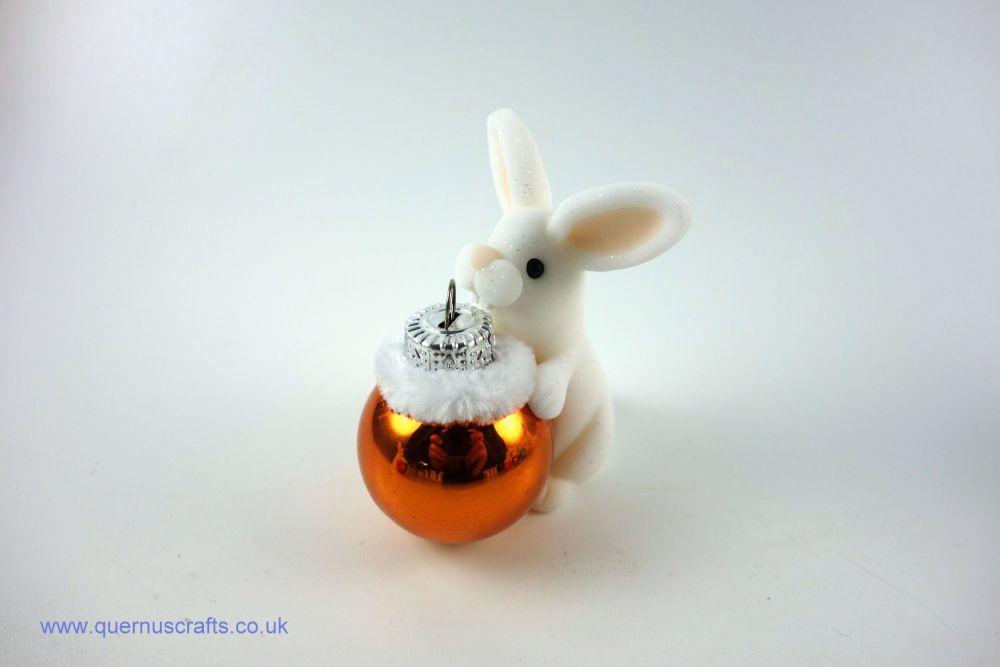 Little Christmas Bauble Bunny (Orange)