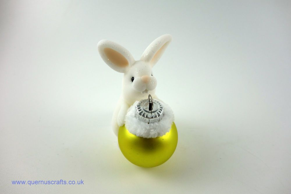 Little Christmas Bauble Bunny (Yellow)