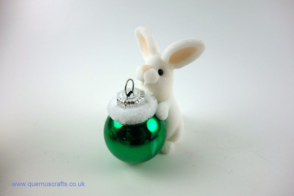 Little Christmas Bauble Bunny (Green)