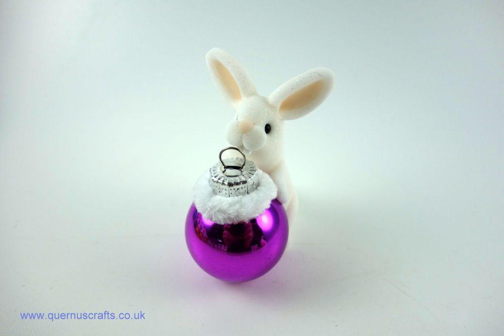 Little Christmas Bauble Bunny (Purple)