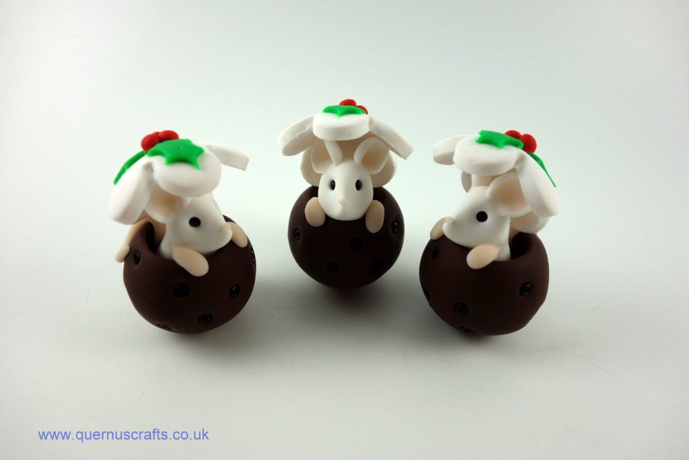 Tiny Mouse in Christmas Pudding (3 available)