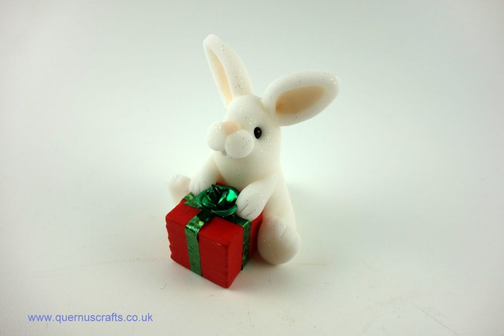 Little Bunny with Red Gift