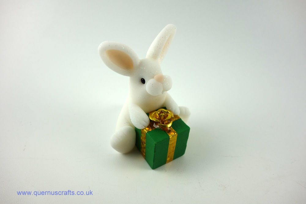 Little Bunny with Green Gift