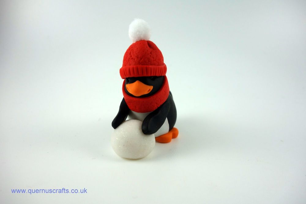 Wee Cozy Snowball Penguin (Red)