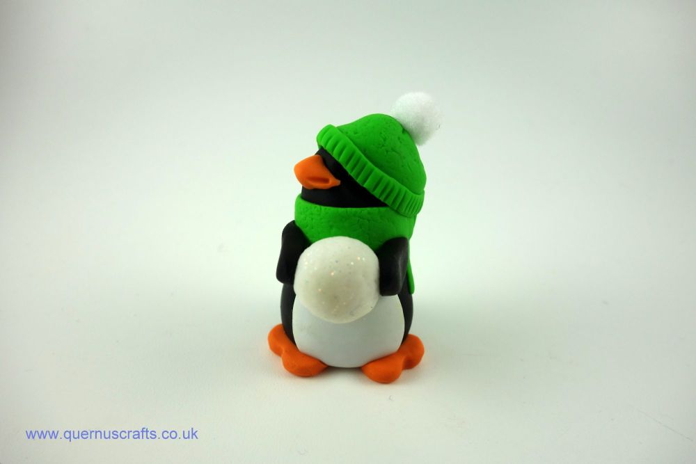 Wee Cozy Snowball Penguin (Green)