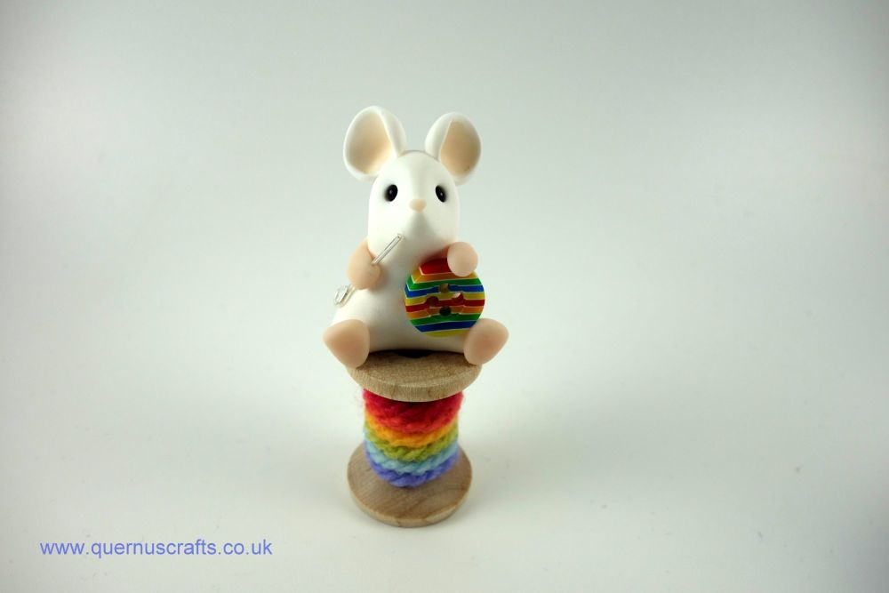 Little Rainbow Sewing Mouse